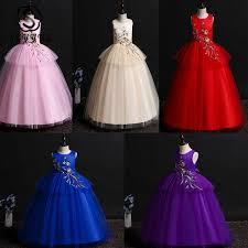 2019 <b>Skyyue Girl Princess Party</b> Dress For Wedding O Neck ...