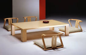 Japan Table and Chairs Zaisu