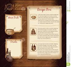 Food Recipe Template Retro Menu Template Stock Vector Illustration Of Backdrop 33312267