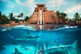 enjoy the water park with a variety of features such as river rides and underwater slide atlantis5 underwater