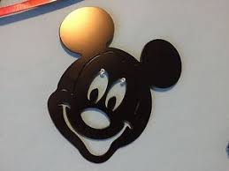 image is loading plasma cut large black painted mickey mouse metal  on mickey mouse metal wall art with plasma cut large black painted mickey mouse metal mancave wall