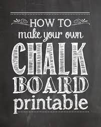 Chalkboard Sign Generator How To Make Your Own Chalkboard Printables How To Nest For