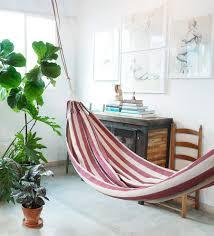 Furniture Accessories:Best Indoor Hammock Livingroom Comfortable White  Indoor Hammocl Design Striped White Red Indoor