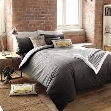 modern gray duvet cover