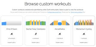 whatsonzwift browse custom workouts