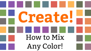 Paint Color Mixing Chart How To Mix Any Color Or Creating Color Charts