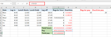Excel Overtime Formula How To Quickly Calculate The Overtime And Payment In Excel