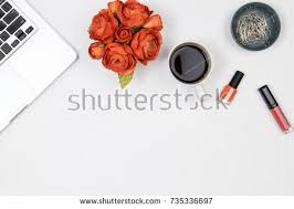 flat workspace home office.  home flat lay home office desk woman workspace with laptop peony flowers  bouquet lipstick in workspace home office p