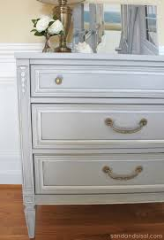 pictures of chalk painted furnitureChalk Paint Dresser Makeover Part 2 Using Wax  Sand and Sisal