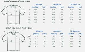 Gildan Ultra Cotton T Shirts Size Chart Unexpected Gildan