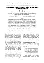 Pdf Writing Introduction Sections Of Research Articles In Applied