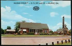 McRAE GA Court Motel Vintage Georgia Postcard Early Old Roadside Claude  Fields   eBay