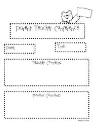 Parent Teacher Conference Documentation Form - April.onthemarch.co