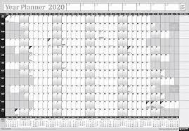 2020 Annuale Parete Calendario Grafico Anno Penna Adesivo Laminato