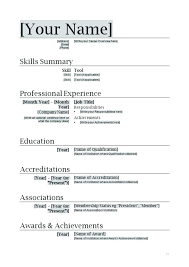 Resume Template Word Doc Document Download Basic Sample Format Waa