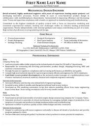 Mechanical Design Engineer Resume Objective Design Engineer Resume Sample Template 1