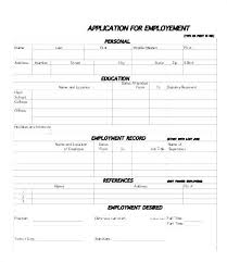 Generic Blank Job Application Blank Employment Form Helpful Printable Template Compliant