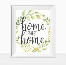 printable home sweet home wall