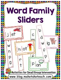 Word Families Template Diy Word Family Sliders Make Take Teach