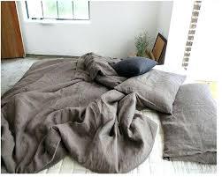 linen bed cover pure linen duvet cover set queen king brown french flax linen bedding set