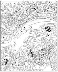 Ocean Coloring Pages For Adults Stylized Animal Set Sea Collection