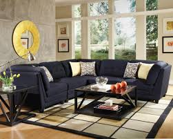 Sectional Living Room Set Keaton 5 Pc Sectional Living Room Set In Midnight Blue