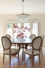 awesome round dining table with vine french round fabric side chairs linen dining room chairs plan