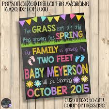 spring baby announcements spring chalkboard pregnancy announcement sign grass not only thing
