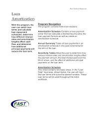 Amortization Schedule For A Loan Commercial Loan Amortization Schedule Templates At