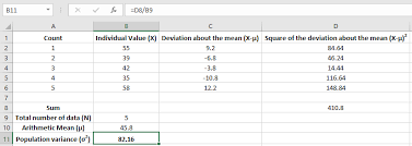 Variance Formula How To Calculate Variance In Excel Exceldemy