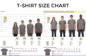T Shirt Size Chart The Shop Forward