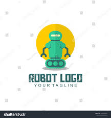 Robot Logo Design Robot Logo Design Stock Vector Royalty Free 1063458632