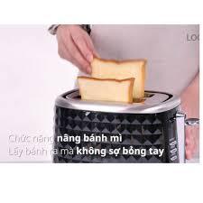 Máy Nướng Bánh Mì Mini Lock&Lock công suất 850W Màu đen EJB222BLK (hàng bảo  hành chính hãng 12 tháng) - Lò vi sóng