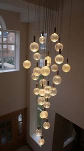modern glass chandelier lighting. 15 stairway lighting ideas for modern and contemporary interiors glass chandelier 3