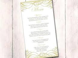 Wedding Menu Cards Templates For Free Gold Wedding Menu Card