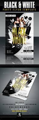 Black And White Flyer Template Black And White Party Flyer Template By CreativB GraphicRiver 19