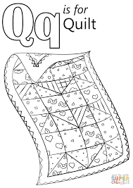 Small Picture Letter Q is for Quilt coloring page Free Printable Coloring Pages