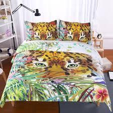 outfits animal print bedding duvet cover set digital print 3pcs