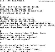 At The Cross Where I First Saw The Light Lyrics Adventist Hymnal Song 163 At The Cross With Lyrics Ppt