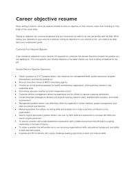 Objective In A Resume Examples Tomyumtumweb Com