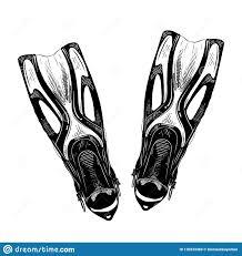 эскиз руки вычерченный флипперов в черноте изолированных на белой