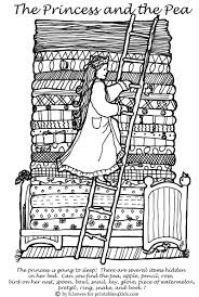 princess and the pea coloring page. the princess and pea hidden pictures activity coloring page s