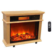 lifesmart large deluxe mantle portable electric infrared quartz fireplace heater