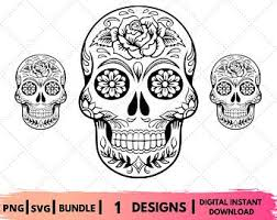 Download and upload svg images with cc0 public domain license. Free Sugar Skull Svg Etsy