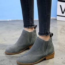 summer boots women shoes 2018 new fashion suede genuine leather ankle boots women shoes flat heels