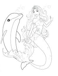 Mermaid Coloring Pages Printable Barbie Color Pages Barbie Color
