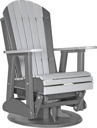 swivel glider chair. SWIVEL Adirondack Style Glider Chair Swivel