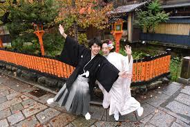 京都結婚式前撮りのショートやボブでの髪型キキフォト