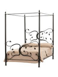Fair Oak Wrought Iron Canopy Bed