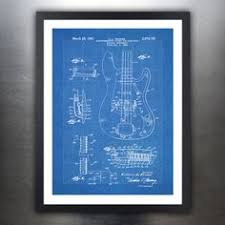 original fender precision bass patent the first successful fender p bass guitar 1959 patent print 18x24 por stevesposterstore